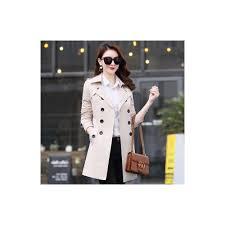 fitaylor autumn winter women double ted trench coats medium long slim waterproof raincoat business outerwear plus size 5xl size xs color beige