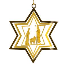 Sikora Bs167 Christbaumschmuck Aus Messing Sterne Mit
