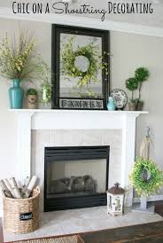 summer mantel turquoise yellow and green by chic on a shoestring decorating
