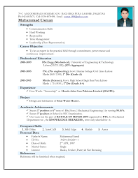 Experienced Mechanical Engineer Resume For Free Experience Resume