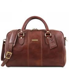 tuscany leather lisbona travel leather duffle bag large size brown tl141657 1