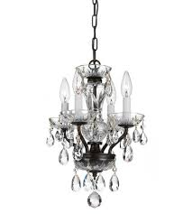 crystorama 5534 eb cl i traditional crystal 4 light 11 inch english bronze mini chandelier ceiling light in english bronze eb clear italian