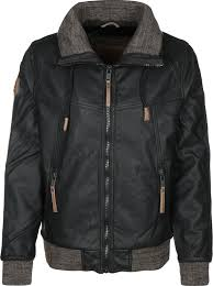 naketano free men we are ii faux leather jacket color black brown