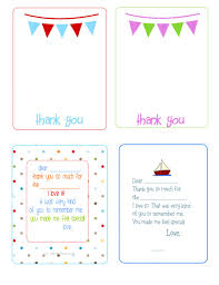 Printable Thank You Cards - The House Of Hendrix