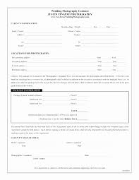 Wedding Photography Contract Form Wedding Photography Contracts Templates Fresh Portrait Graphy