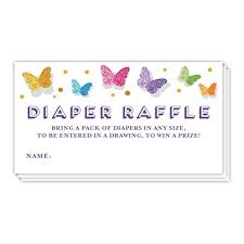 2 part raffle tickets amazon com butterfly diaper raffle tickets baby shower party game