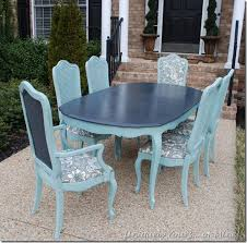 painted vine thomasville dining table and chairs annie sloan chalk paint graphite duck egg