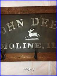 John Deere Coat Rack Embossed John Deere Signs 79