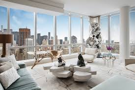 nyc apartment with floor to ceiling windows