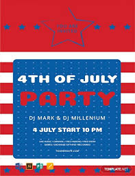 Free 4th Of July Flyer Template Word Psd Apple Pages
