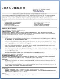 Insurance Claims Processor Sample Resume] Top 8 Insurance Claims .