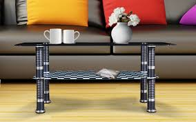 royaloak kanva coffee table with tempered glass top