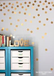 polka dot wall decals gold polka dots