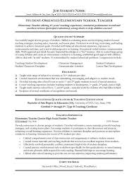 Resume Format For A Teacher