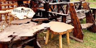furniture made from tree trunks. Garden Furniture Made From Tree Trunks By Ayub