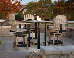 poly lumber furniture. Interesting Lumber Stunning Poly Lumber Furniture Also Pub Table W 3 Balcony  Swivel Chairs Throughout