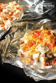 grilled ranch potatoes in foil