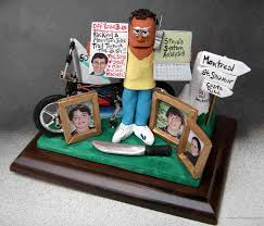 dad s 50th birthday clay caricature with his mtn bike family photos destination