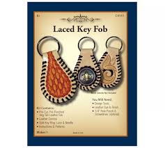 product number c4151 laced key fob kit description the classic shaped tooling leather