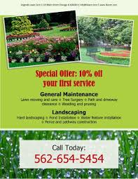 Sample Flyers For Landscaping Business General Maintenance And Landscaping Free Flyer Template By