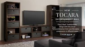 Living room wall furniture Small Space Toacara Entertainment Wall Shop Now City Furniture Entertainment Furniture And Tv Stands