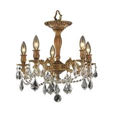 worldwide lighting windsor 5 light semi flush mount chandelier