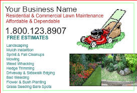 Sample Flyers For Landscaping Business Lawn Care Flyers Landscaping Postcards Designsnprint