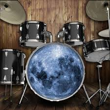 Bass Drum Skin Design Moon Drum Skin For Bass Snare And Tom Drums For Customizing