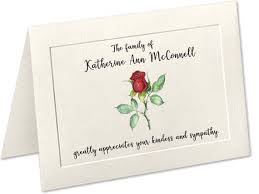 Personalized Sympathy Thank You Cards Sympathy Acknowledgement Cards Funeral Thank You Cards Etsy