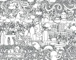 Doodle Coloring Pages To Print Printable Journal Doodles Free
