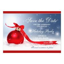 Christmas Party Save The Date Templates Personalized Christmas Party Save The Date Cards Zazzle
