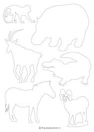 Sagome Di Animali Da Stampare E Ritagliare Pianetabambiniit