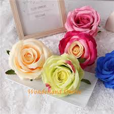 2018 9cm artificial double colors silk rose flower head ornament accessories for diy flower bouquet wedding arch wall decorations yyf33 from hyunie0159