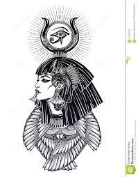 портрет красивой египетской богини иллюстрация вектора иллюстрации