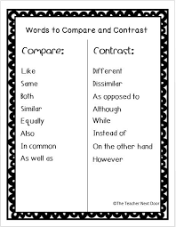 6 Tips To Teach Compare And Contrast Speech And Language Compare