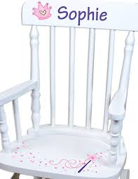hand painted personalized princess rocking chair white rocker comfortable toddler chairs regarding 19
