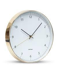 salt pepper blair wall clock 31cm