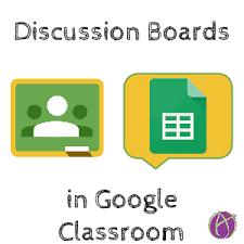 Google Classroom Creating A Discussion Board Teacher Tech