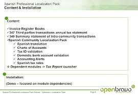 Spanish Professional Localization Pack Extension Module