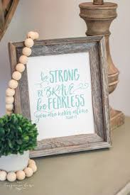 <b>Be Strong</b> Be Brave Be Fearless - an <b>Inspirational</b> Free Printable