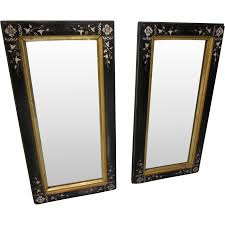 black and gold frame png. Pair Eastlake Black Carved Lacquer With Gold Framed Wall Mirrors : Antiques Jewelry \u0026 Sacred Treasures | Ruby Lane And Frame Png