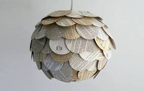 Paper lighting Led Allison Patrick Recycled Book Lighting Treehugger Glowing Artichoke Lamps Made From Recycled Book Pages Treehugger