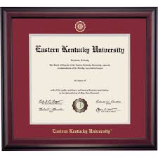 eastern kentucky school color traditional for doctoral diploma  eastern kentucky school color traditional for doctoral diploma frame
