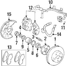 Genuine lexus brake pads lex 0446524021