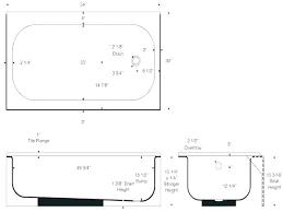 standard bath length length of bathtub