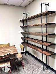 metal and wood wall shelving unit shelves rectangle floating shelf bookshelf rectan