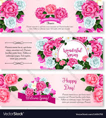 Spring Flower Template Spring Flower Bouquet For Greeting Banner Template