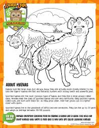 Hyena Coloring Page Animal Jam Academy