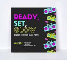 Dance Invitation Ideas 40 Glow In The Dark Party Ideas Canva