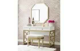 Rachael Ray Home Chelsea Desk/Vanity, White, Bedroom Vanities,Wood ...